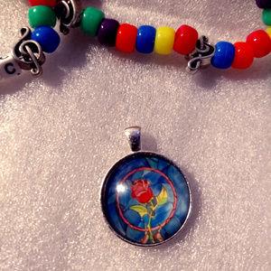 MAGIC ROSE Pendant Necklace - Festival Fashion